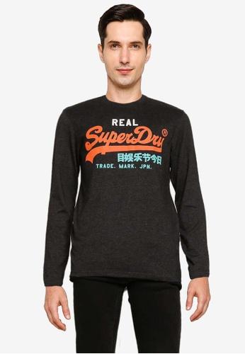 SUPERDRY black Vintage Label Desert Long Sleeve Tee A4B62AAA5C928DGS_1