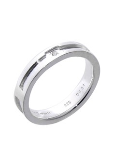 Lovely Day Silver Ring with Artificial Diamond for Men lr0015m