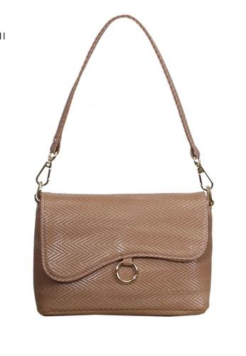 Verchini beige Verchini Asymmetrical Shoulder Bag 3AA62AC509669FGS_1