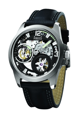 Arbutus black Skeleton Open Dial Automatic AR142AC75HZKSG_1