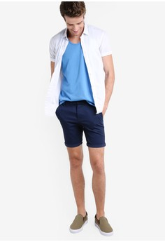 oakley stanley shorts cvg6  Topman Navy Stretch Skinny Chino Shorts 5690 SGD Sizes 28 30 32 34 36