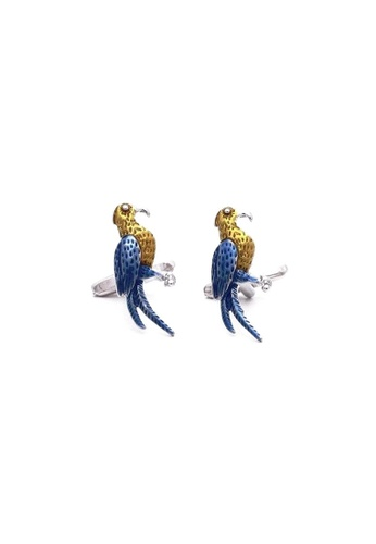 Red Stag And Hind blue Red Stag And Hind Enamel Parrot Cufflinks 49B9CACF9B06BCGS_1