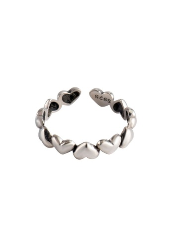 OrBeing 白色 Premium S925 Sliver Heart Ring 23381AC144A20AGS_1