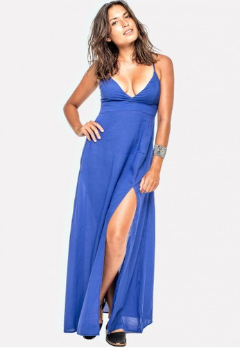 Just Jo Design navy Lily Maxi Dress - Blue 905DFAA668F913GS_1