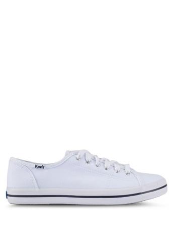 Keds white Kickstart Canvas Sneakers KE942SH0STETMY_1