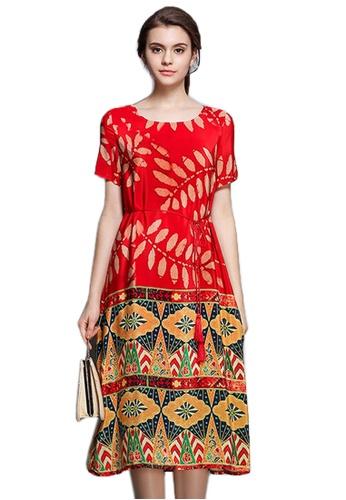 Sunnydaysweety red Vintage Slim Cutting One Piece Dress UA062227 SU219AA68LYHSG_1