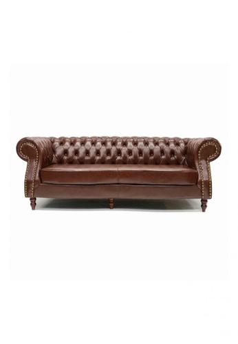 Choice Furniture brown Choice Furniture - Durham Chesterfield Sofa 1E08DHL20615A4GS_1