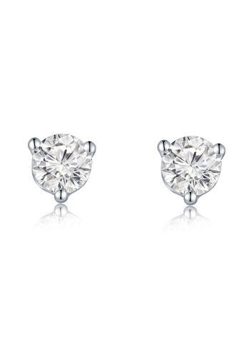 MaBelle silver 18K/750 White Color Gold Single Diamond Earrings A83DAAC40C8146GS_1