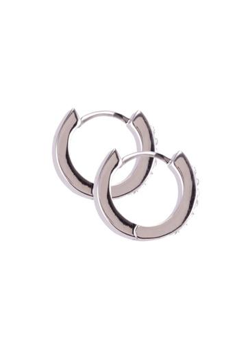 Mestige 銀色 Rosie Cuff 耳環With Swarovski Crystals B67DDACA124CA4GS_1