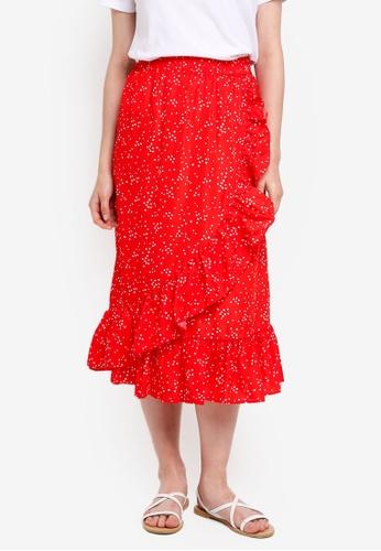 Pieces red Aida Skirt 6A0CCAA43D7552GS_1