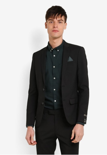 Buy River Island NEW ?100 APOLLO SKINNY BLACK SUIT JKT | ZALORA HK