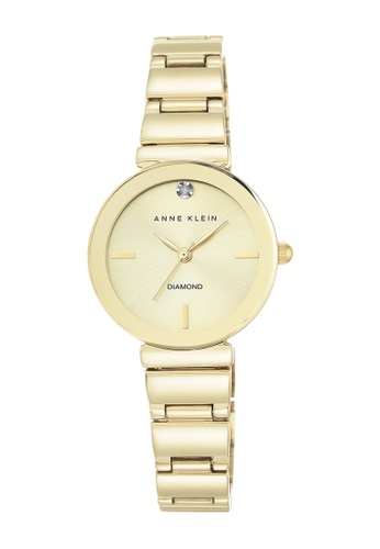 Anne Klein gold Anne Klein Ladies - Diamond Dial Gold-Toned Metal Bracelet Watch - AK-2434CHGB AN844AC0RGSEMY_1