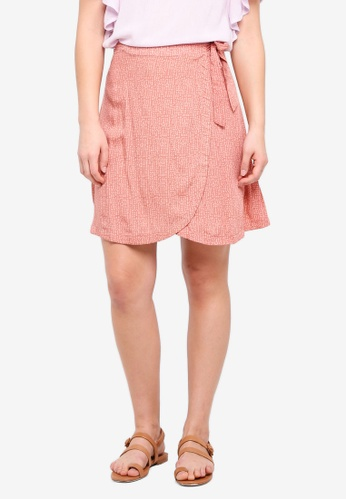 ICHI pink Arizo Skirt CB763AABD66188GS_1