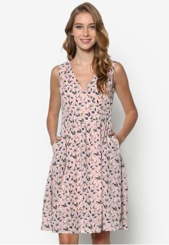 esprit 門市印花喇叭洋裝, 服飾, 洋裝