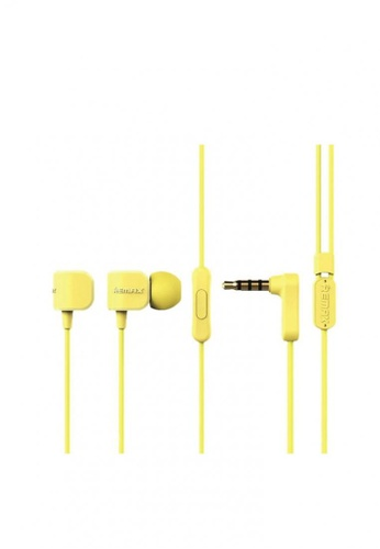 Stylebox yellow Remax RM-502 Crazy Robot In-EarPhone Headset With Mic Line Control 901AAACE484095GS_1