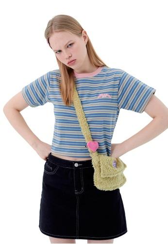 Twenty Eight Shoes Small Fresh Style Stripe T-shirt HH1076 C9F2FAA88EC5AEGS_1