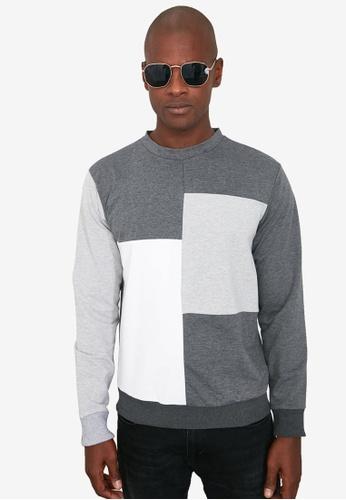 Trendyol grey Colorblock Regular Fit Sweatshirt 76A78AA4389443GS_1