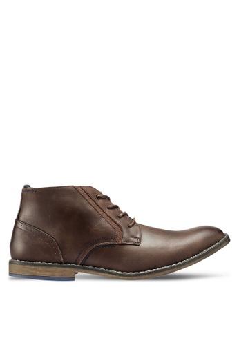Bata 褐色 仿皮皮鞋 E79D3SH6FE09FDGS_1