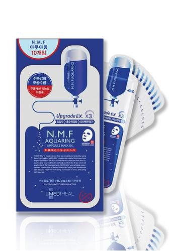 Mediheal blue Mediheal N.M.F Aquaring Ampoule Mask Box C670BBE6FF298BGS_1