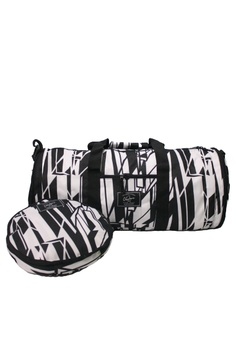 aa41bcbe5b The Venture Pack black and white White Prism Duffle Version 2.0 (with Shoe  Compartment)