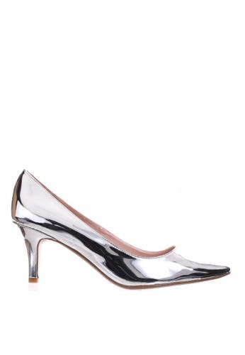 PRODUIT PARFAIT silver Patent Stiletto Heel Pumps 846E6SH1CAF88EGS_1