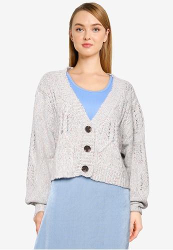 Cotton On blue Twisted Sister Rib Button Cardigan BBEEBAA935BB2EGS_1