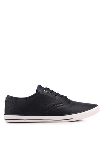 Jack & Jones black Scorpion Faux Leather Sneakers BC293SH680C8D4GS_1