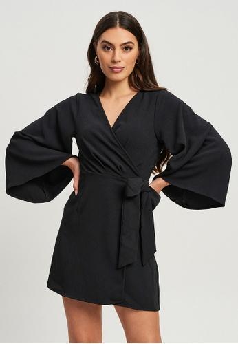 Tussah black Livia Mini Dress 10B32AA0E42C52GS_1