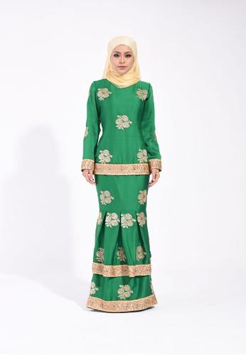 Deewani Modern Kurung In Pixie Green from Ann Khan Exclusive in Green