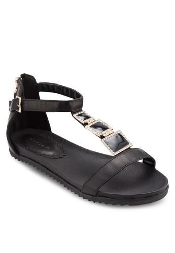 T 字帶閃鑽平底esprit taiwan涼鞋, 女鞋, 涼鞋