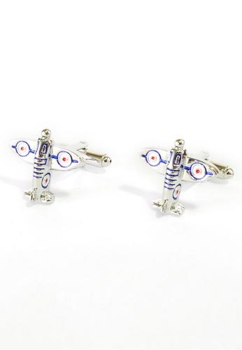 Splice Cufflinks Spitfire Fighter Plane Cufflinks SP744AC05DMCSG_1