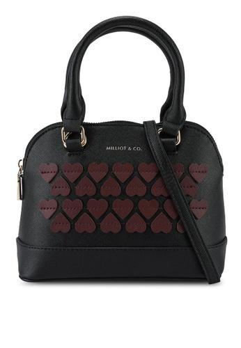 Milliot & Co. black Aggatha Top Handle Bag 6836AACAE65F7BGS_1