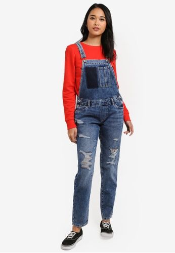 ONLY blue Kim Witty Denim Overall 6C59BAA21ED584GS_1