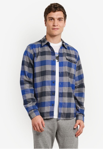 Patagonia blue Long Sleeve LW Fjord Flannel Shirt PA549AA0RQENMY_1