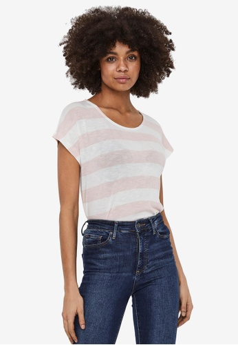 Vero Moda pink Wide Stripe Top 3F954AAE5D6D7CGS_1