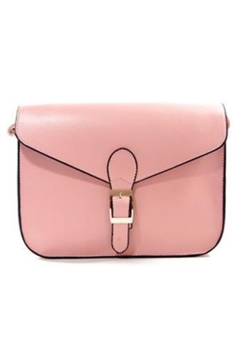 Jackbox pink Korean Casual PU Leather Shoulder Sling Bag 311 (Pink) JA762AC17DIWMY_1