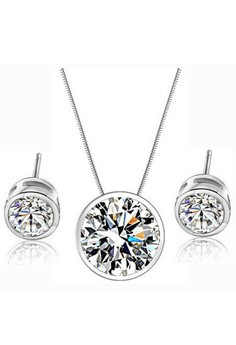 Round zircon crystal jewelry sets in September