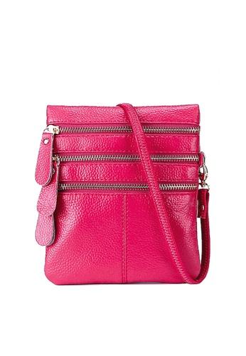 Twenty Eight Shoes pink VANSA Pebbled Cow Leather Crossbody Bag VBW-Cb583 33A2AACA496DE4GS_1