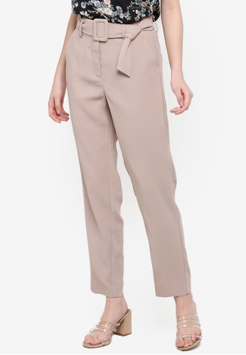 FORCAST grey and brown Victoria Tapered Trousers A427CAAC0BB311GS_1