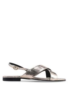 27a97a4a4e86 Nelissa Hilman for ZALORA gold Aria Slingback Sandals 14DEFSHB0BAFBAGS 1
