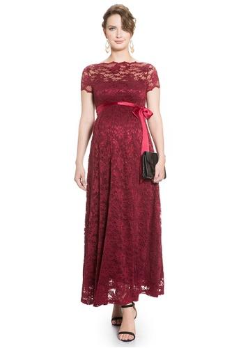 Mayarya red Maternity Gown in Wine 722E7AA24DC52CGS_1