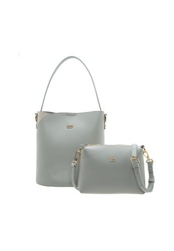 Valentino Creations grey Valentino Creations Marriton Handbag & Slingbag 2 in 1 Set 8319BACAF2F275GS_1