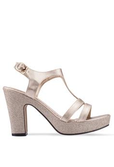 7161ced2710a Spiffy gold Glittery Strappy Heels 7584ESHFF8F4B9GS 1