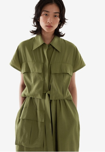 Cos green Belted Utility Dress 802E1AA618B657GS_1