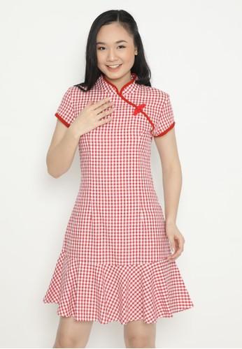 MINEOLA red MINEOLA Cheongsam Bottom Remple Dress 19BB3AAC26BD43GS_1
