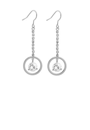 Glamorousky silver Elegant Round Earrings with Silver Austrian crystal 1CB17AC236026CGS_1