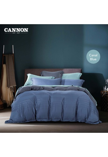 CANNON CANNON Humfrey Giosue - Canal Blue (Fitted Sheet Set). 0950BHLA94AD54GS_1