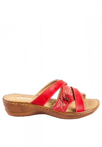 67229b38d Shop Otto Floral Crossover Slide Sandals Online on ZALORA Philippines