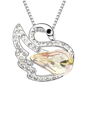 LOVENGIFTS gold LOVENGIFTS Swan Princess Pendant Necklace (Gold) 5BE05AC62ACAE3GS_1