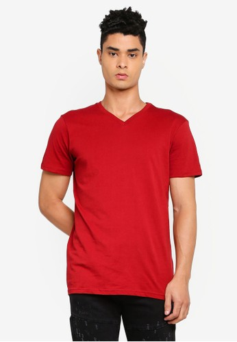 Cotton On red Essential Vee Neck T-Shirt 03CB6AAB4DABD4GS_1